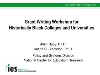 Grant Writing Workshop for  Historically Black Colleges and Universities