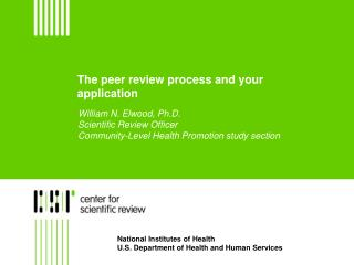 The peer review process and your application