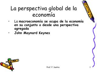 La perspectiva global de la economía