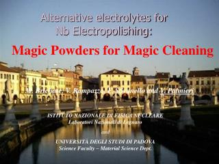 Alternative electrolytes for  Nb Electropolishing: