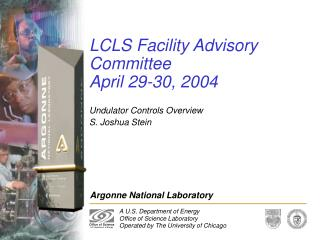 LCLS Facility Advisory Committee  April 29-30, 2004