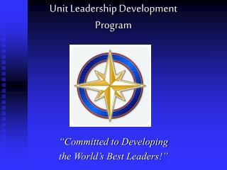 Unit Leadership Development Program