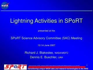 Lightning Activities in SPoRT