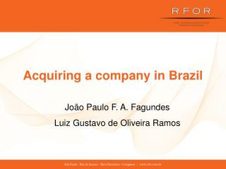 Acquiring a company in Brazil