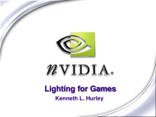 Lighting for Games