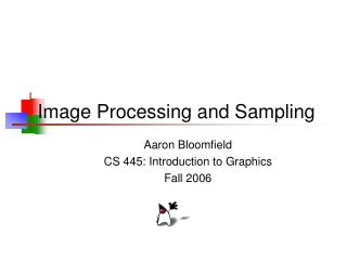 Image Processing and Sampling