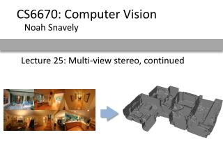 Lecture 25: Multi-view stereo, continued