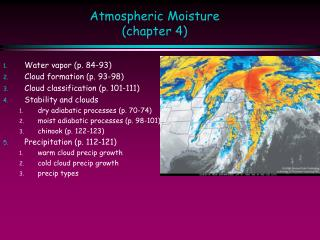 Atmospheric Moisture (chapter 4)