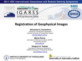 Registration of Geophysical Images