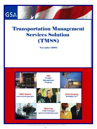 Transportation Management  Services Solution (TMSS) November 2005