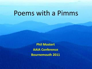 Poems with a Pimms