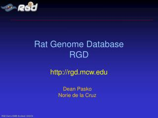Rat Genome Database RGD
