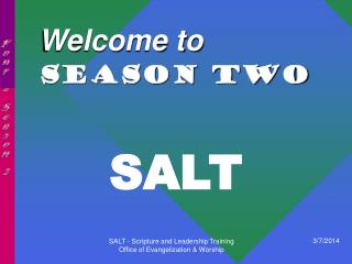 Welcome to SEASON TWO