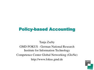 Policy-based Accounting