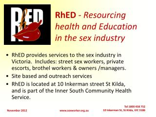 RhED - Resourcing health and Education in the sex industry