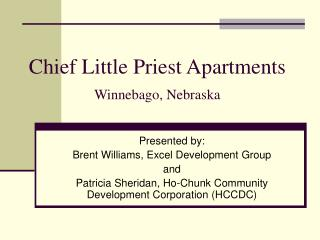 Chief Little Priest Apartments Winnebago, Nebraska