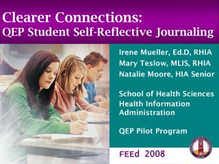 Clearer Connections: QEP Student Self-Reflective Journaling
