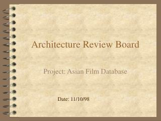 Architecture Review Board