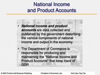 National Income and Product Accounts