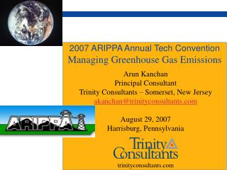2007 ARIPPA Annual Tech Convention Managing Greenhouse Gas Emissions