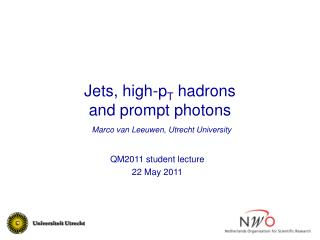 Jets, high-p T  hadrons  and prompt photons
