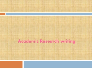 Academic Research writing