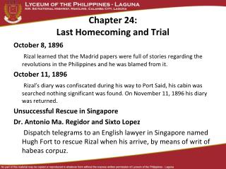 Chapter 24: Last Homecoming and Trial