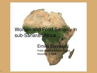 Women and Food Security in sub-Saharan Africa