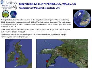 Magnitude 3.8 LLEYN PENINSULA, WALES, UK
