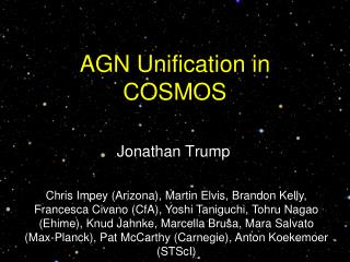 AGN Unification in COSMOS