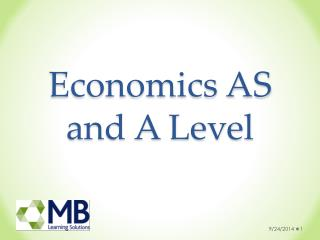Economics AS and A Level