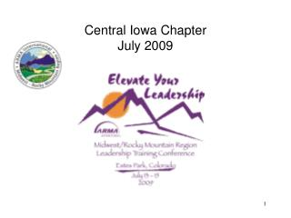 Central Iowa Chapter  July 2009