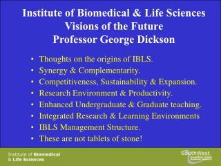 Thoughts on the origins of IBLS. Synergy & Complementarity.