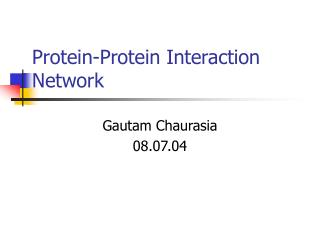 Protein-Protein Interaction Network