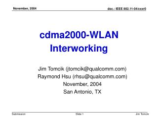 cdma2000-WLAN Interworking