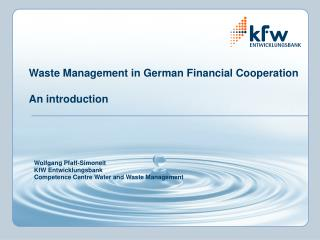 Waste Management in German Financial Cooperation An introduction