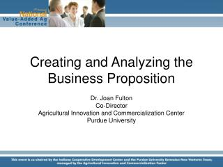 Creating and Analyzing the Business Proposition