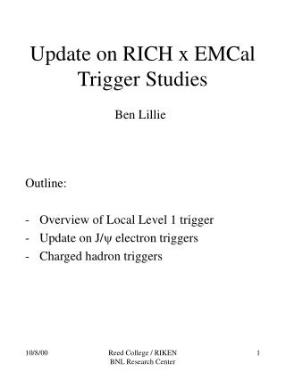 Update on RICH x EMCal  Trigger Studies