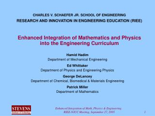 Enhanced Integration of Mathematics and Physics into the Engineering Curriculum