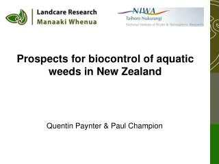 Prospects for biocontrol of aquatic weeds in New Zealand