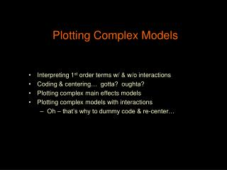 Plotting Complex Models