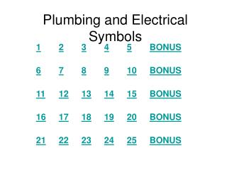 Plumbing and Electrical Symbols