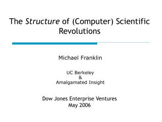 The  Structure  of (Computer) Scientific Revolutions