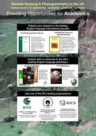 Remote Sensing & Photogrammetry in the UK