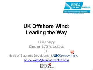 UK Offshore Wind:  Leading the Way