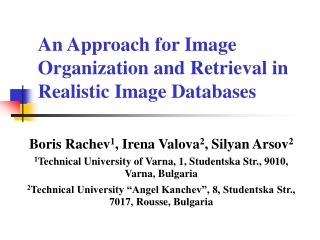 An Approach for Image Organization and Retrieval in Realistic Image Databases
