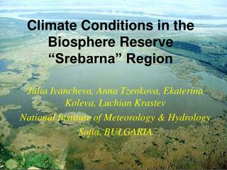 Climate Conditions in the Biosphere Reserve