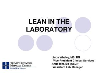 LEAN IN THE   LABORATORY
