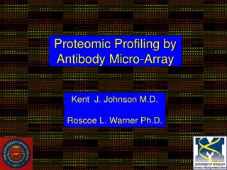 Proteomic Profiling by  Antibody Micro-Array