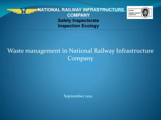 NATIONAL RAILWAY INFRASTRUCTURE COMPANY Safety Inspectorate Inspection Ecology